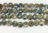 CKJ487 15.5 inches 11mm flat round natural k2 jasper beads