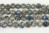 CKJ493 15.5 inches 11mm flat round natural k2 jasper beads