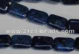 CKU123 15.5 inches 10*14mm rectangle dyed kunzite beads wholesale