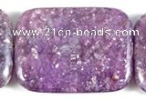 CKU14 15 inches 30*40mm rectangle purple kunzite beads wholesale