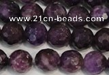 CKU24 15.5 inches 12mm faceted round purple kunzite beads wholesale