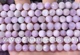 CKU325 15.5 inches 7.5mm - 8mm faceted round natural kunzite beads