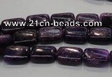 CKU44 15.5 inches 8*12mm rectangle purple kunzite beads wholesale
