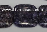 CKU50 15.5 inches 30*30mm square purple kunzite beads wholesale