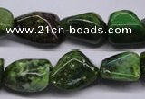 CKU55 15.5 inches 12*16mm - 14*20mm nuggets dyed kunzite beads
