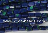 CLA451 15.5 inches 4*6mm rectangle synthetic lapis lazuli beads