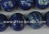 CLA475 15.5 inches 20mm round synthetic lapis lazuli beads