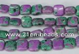 CLA518 15.5 inches 8*8mm square synthetic lapis lazuli beads