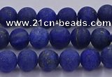 CLA70 15.5 inches 4mm round matte lapis lazuli beads wholesale