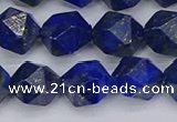 CLA88 15.5 inches 10mm faceted nuggets dyed lapis lazuli beads