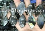 CLB1004 15.5 inches 18*35mm - 25*45mm marquise labradorite beads