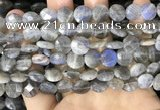 CLB1038 15.5 inches 10mm faceted coin labradorite beads wholesale