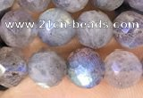 CLB1072 15.5 inches 6mm faceted round labradorite beads