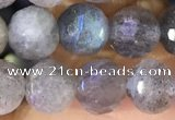 CLB1073 15.5 inches 8mm faceted round labradorite beads