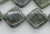 CLB120 15.5 inches 20*20mm diamond labradorite gemstone beads wholesale