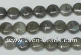 CLB148 15.5 inches 8mm flat round labradorite gemstone beads