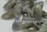 CLB15 16 inches 10*18mm faceted marquise labradorite gemstone beads
