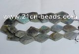 CLB215 15.5 inches 20*30mm - 30*40mm faceted freeform labradorite beads