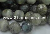 CLB24 15.5 inches 12mm faceted round labradorite gemstone beads