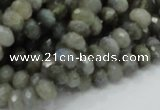 CLB29 15.5 inches 5*8mm faceted rondelle labradorite gemstone beads