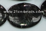 CLB314 15.5 inches 30*40mm oval black labradorite gemstone beads