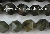 CLB453 15 inches 10mm faceted nuggets labradorite gemstone beads