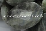 CLB49 15.5 inches 30*40mm faceted oval labradorite gemstone beads