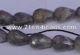 CLB503 15.5 inches 10*14mm faceted teardrop labradorite beads