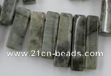 CLB51 15.5 inches multi size wand labradorite gemstone beads