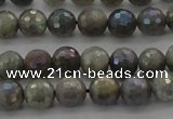 CLB612 15.5 inches 8mm faceted round AB-color labradorite beads