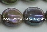 CLB639 15.5 inches 18mm flat round AB-color labradorite beads
