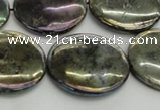 CLB640 15.5 inches 20mm flat round AB-color labradorite beads
