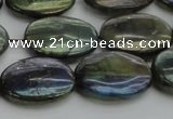 CLB651 15.5 inches 15*20mm oval AB-color labradorite beads