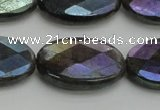 CLB660 15.5 inches 13*18mm faceted oval AB-color labradorite beads