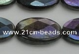 CLB661 15.5 inches 15*20mm faceted oval AB-color labradorite beads