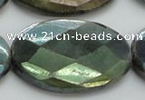 CLB665 15.5 inches 30*40mm faceted oval AB-color labradorite beads