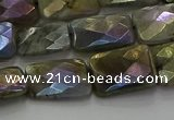 CLB697 15.5 inches 12*16mm faceted rectangle AB-color labradorite beads
