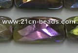 CLB708 15.5 inches 20*30mm faceted rectangle AB-color labradorite beads