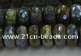 CLB759 15.5 inches 7*12mm faceted rondelle AB-color labradorite beads