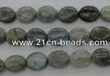 CLB80 15.5 inches 8*10mm oval labradorite beads wholesale
