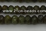 CLB957 15.5 inches 6*10mm faceted rondelle labradorite beads