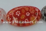 CLG591 16 inches 18*25mm oval lampwork glass beads wholesale