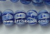 CLG775 14 inches 8*12mm rondelle lampwork glass beads wholesale
