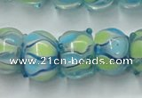 CLG779 14 inches 8*12mm rondelle lampwork glass beads wholesale