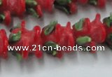 CLG795 15.5 inches 11*13mm rose lampwork glass beads wholesale