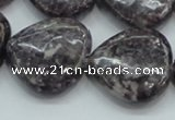 CLI04 15.5 inches 25*25mm heart natural lilac jasper beads wholesale