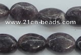 CLI05 15.5 inches 13*18mm oval natural lilac jasper beads wholesale