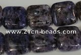 CLJ273 15.5 inches 16*16mm square dyed sesame jasper beads wholesale