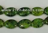 CLJ318 15.5 inches 10*14mm oval dyed sesame jasper beads wholesale