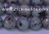 CLJ424 15.5 inches 12mm faceted round sesame jasper beads
